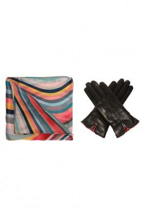 Shawl & leather gloves set od Paul Smith