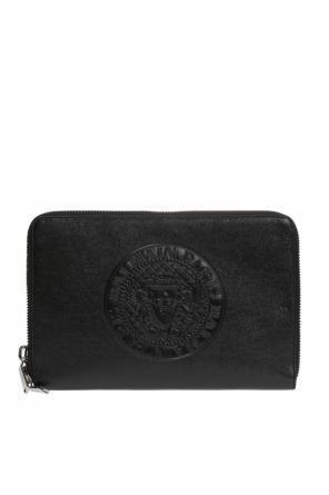 Leather clutch bag od Balmain