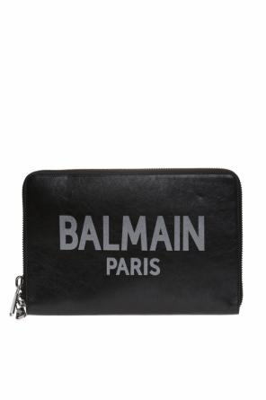 Clutch bag with a logo od Balmain