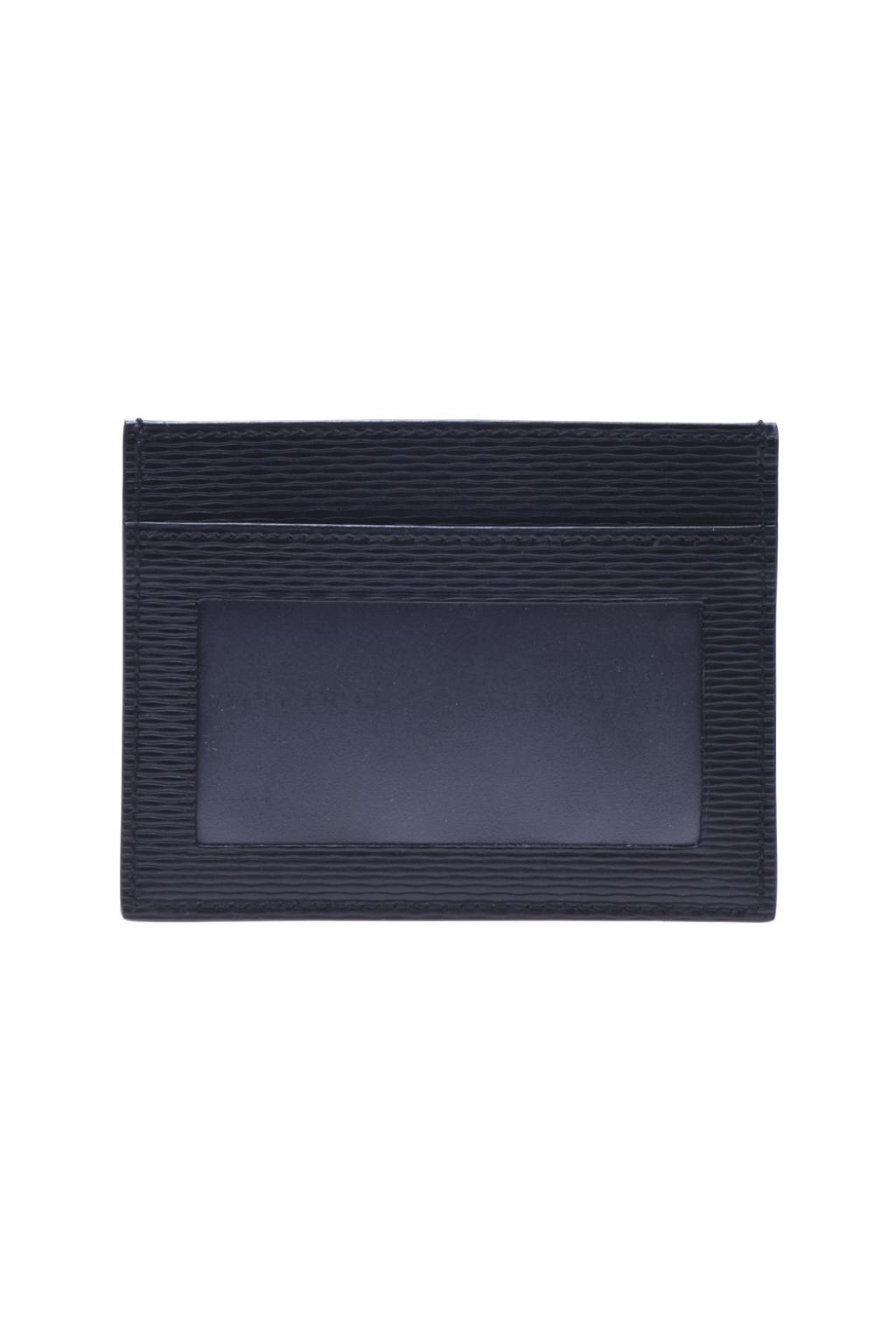 Giorgio Armani Leather Credit Card Holder