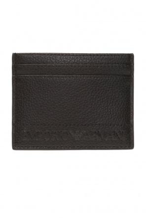 Logo-embossed card case od Emporio Armani