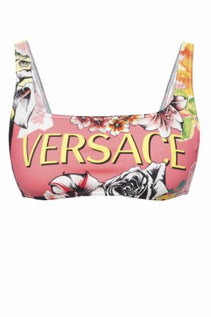 Patterned swimsuit top od Versace