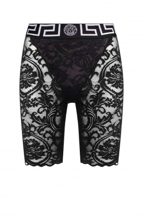 Medusa head lace leggings od Versace
