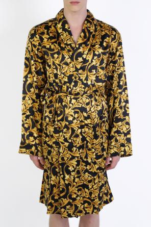Baroque-printed dressing gown od Versace