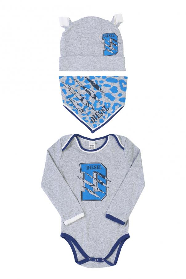 Diesel Kids Body, hat & shawl set