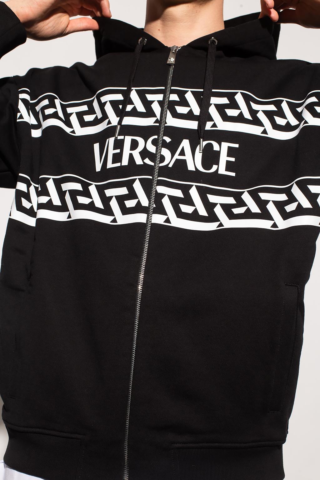Versace Logo-printed hoodie