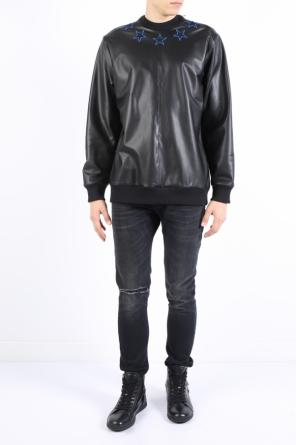 Leather front oversized sweatshirt od Givenchy