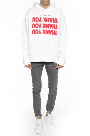 Sweatshirt with inscriptions od Raf Simons