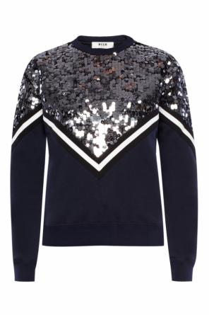 Sequinned sweatshirt od MSGM