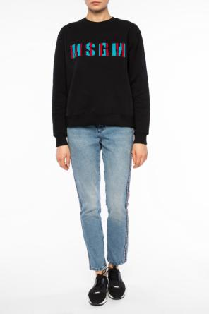 Sequinned-inscription sweatshirt od MSGM