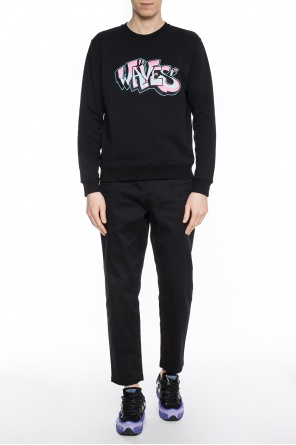 Sweatshirt with patch and logo od MSGM