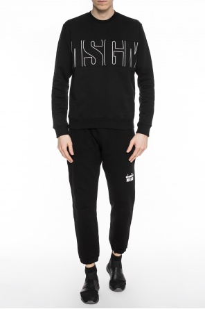 Embroidered logo sweatshirt od MSGM