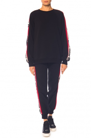 Logo-embroidered sweatshirt od MSGM