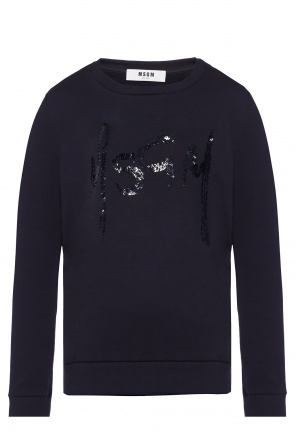 Sweatshirt with logo od MSGM