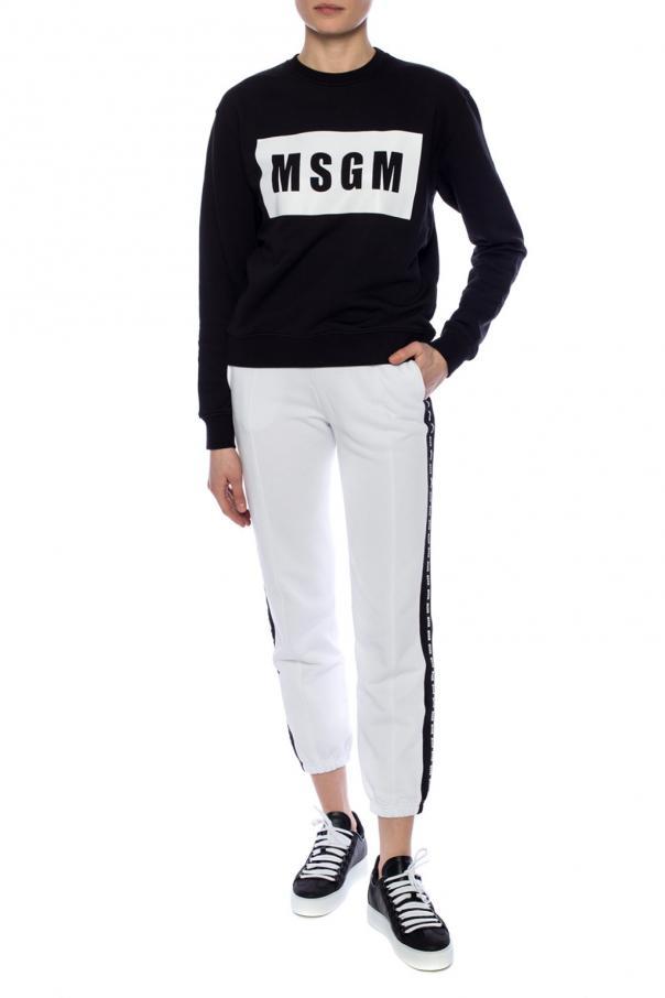 Logo-printed sweatshirt od MSGM