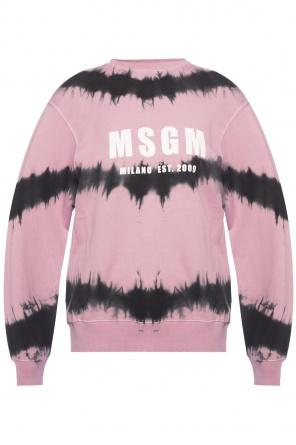 Sweatshirt with logo od MSGM