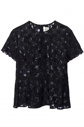 Embroidered sheer top od Comme des Garcons Ninomiya