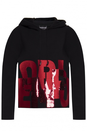 Sequinned hoodie od Emporio Armani