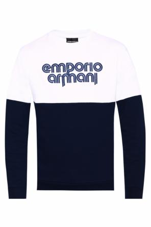 Logo-embroidered sweatshirt od Emporio Armani