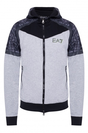 Hooded sweatshirt with logo od EA7 Emporio Armani