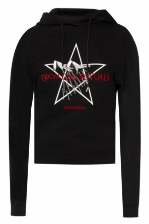 Velvet inscription sweatshirt od McQ Alexander McQueen