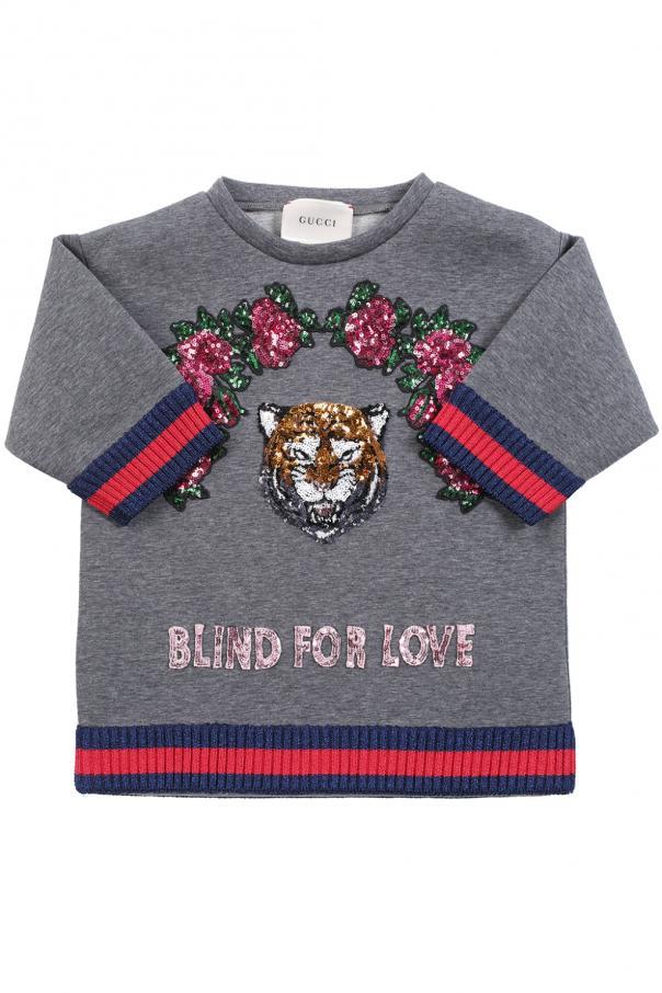 Gucci Kids Bluza z aplikacjami