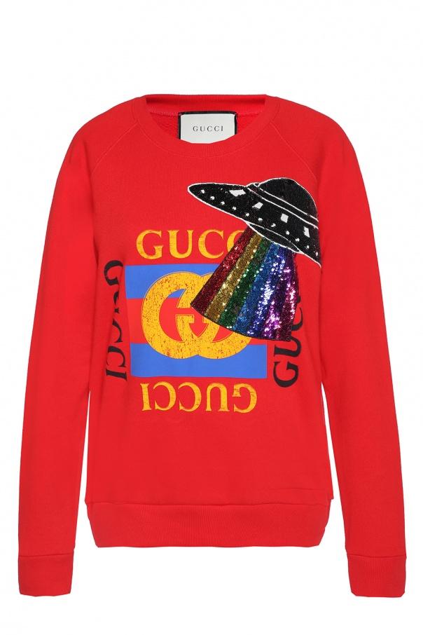 2a23090ba15 Embellished sweatshirt Gucci - Vitkac shop online