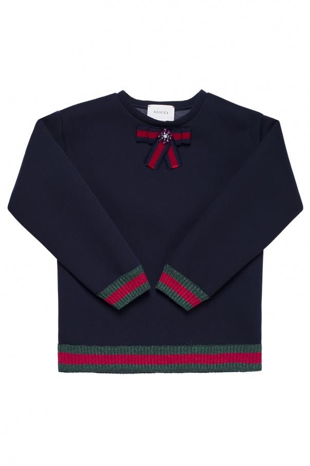 dd43d348f84 Grosgrain bow sweatshirt Gucci Kids - Vitkac shop online