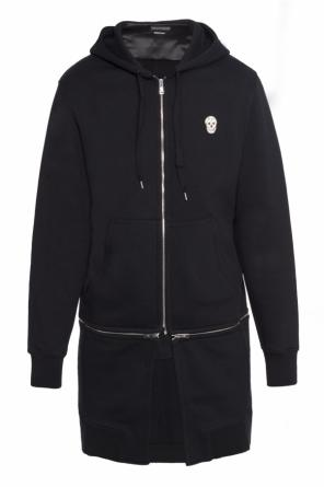 Long sweatshirt with zippers od Alexander McQueen