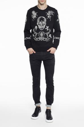 Embroidered sweatshirt od Alexander McQueen