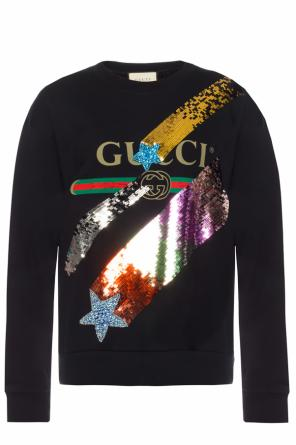 Sweatshirt with a sequin finish od Gucci