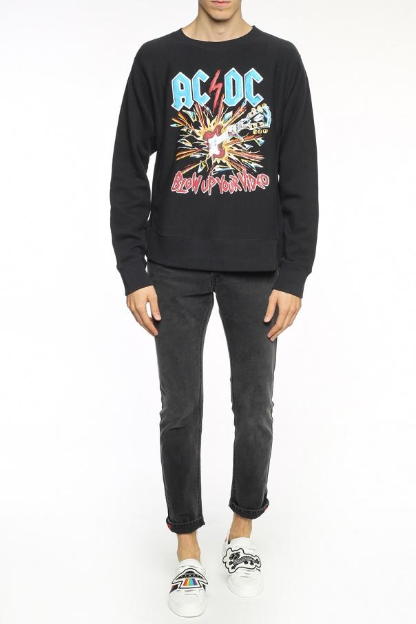 5e3d98267 AC/DC' printed sweatshirt Gucci - Vitkac shop online