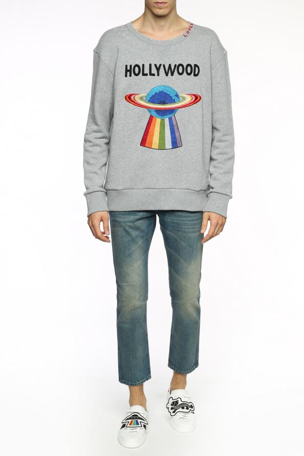 27b834c5 Planet' embroidered sweatshirt Gucci - Vitkac shop online