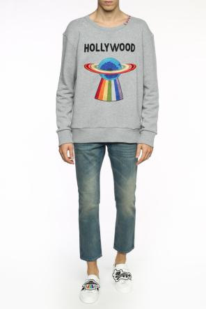 'planet' embroidered sweatshirt od Gucci