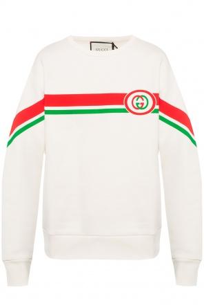 40a0eb0054e66 ... Bluza z nadrukowanymi paskami z logo od Gucci