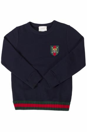 Patched sweatshirt od Gucci Kids