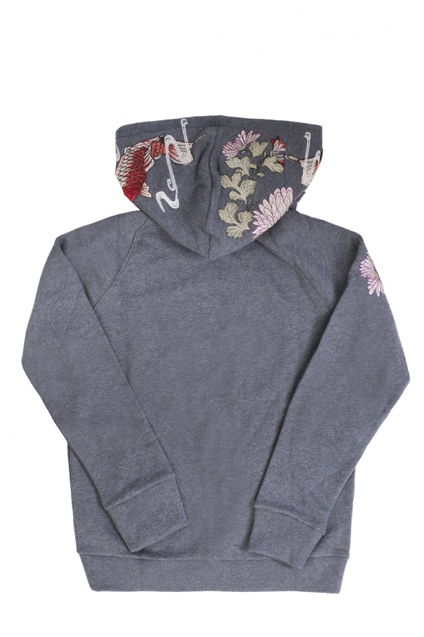 Embellished hooded sweatshirt od Gucci Kids