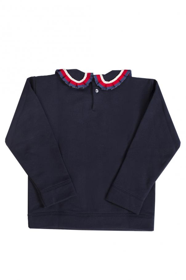 Decorative collar sweatshirt od Gucci Kids