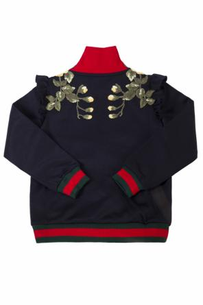 Band  collar sweatshirt od Gucci Kids
