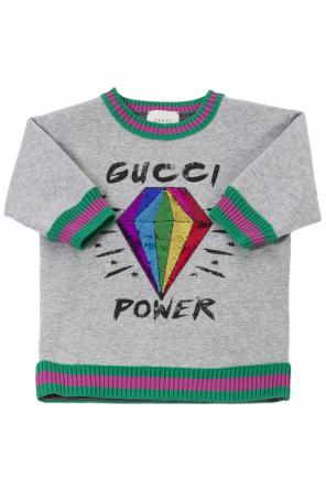 Embellished sweatshirt od Gucci Kids