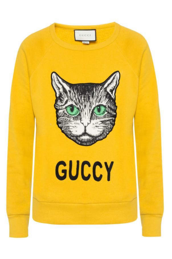 Gucci Sweater Red Black Cat
