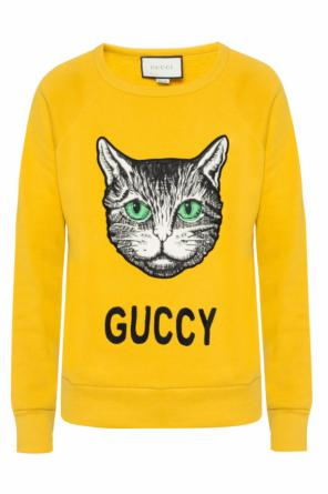 Cat head-sewn sweatshirt od Gucci