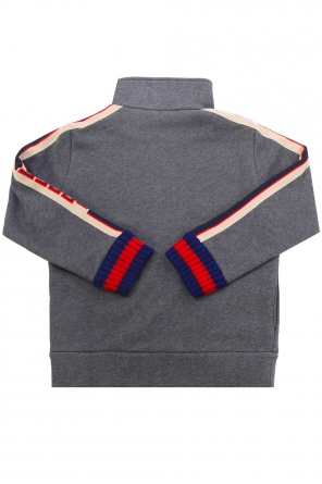 Logo-stitched sweatshirt od Gucci Kids