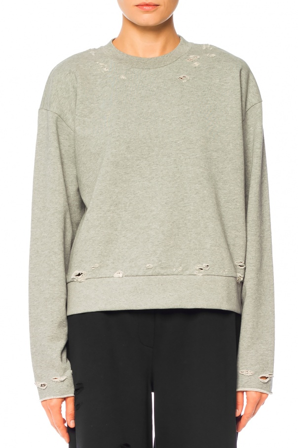 Sweatshirt with holes od T by Alexander Wang