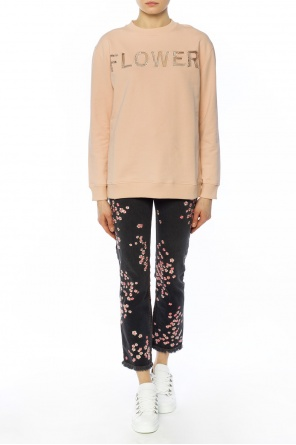 Lace-trimmed sweatshirt od Christopher Kane