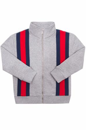 Sweatshirt with a 'web' stripe od Gucci Kids