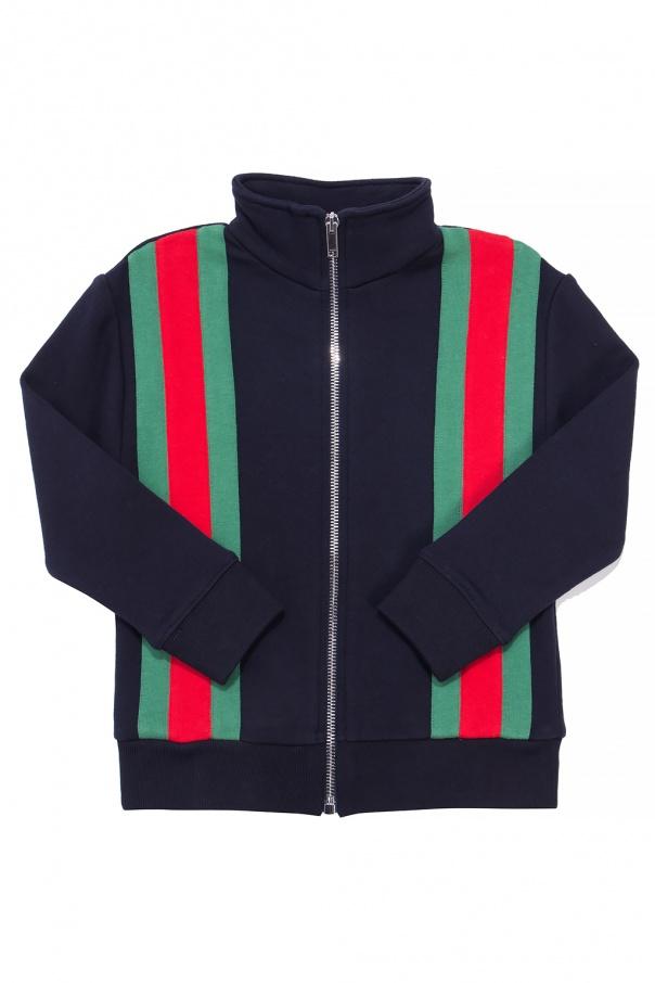cda5ca915a6 Sweatshirt with a  Web  stripe Gucci Kids - Vitkac shop online