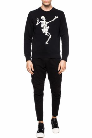 Embroidered skeleton sweatshirt od Alexander McQueen