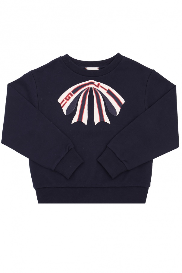 Gucci Kids Sweatshirt with embroidered bow