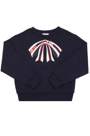 Sweatshirt with embroidered bow od Gucci Kids